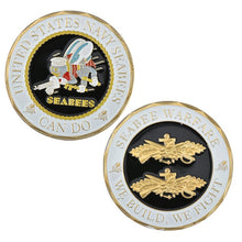 Load image into Gallery viewer, WR United States Navy Seabees Coins Collectibles Gold Copy Coins Seabee Warface Collection Coins Birthday Gifts Box Dropshipping