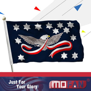 MOFAN Whiskey Rebellion Flag - Canvas Header and Double Stitched - US Historical Whisky Tax Protest Banner Military 3x5ft