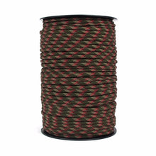 Load image into Gallery viewer, 100m 328FT 4mm Tactical Paracord 550 Outdoor Survival Bracelet Rope Parachute Cord Strap Lanyard Tent Accessories