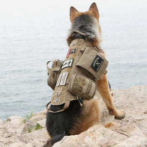 Army Tactical Dog Vests Military Dog Clothes training Load Bearing Harness SWAT Dog Training rescue Molle Vest Harness