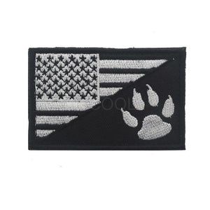 American USA Flag & Claw Sheep Dog Embroidery Patch Military US Army Morale Tactical Emblem Badges Appliques Embroidered Patches