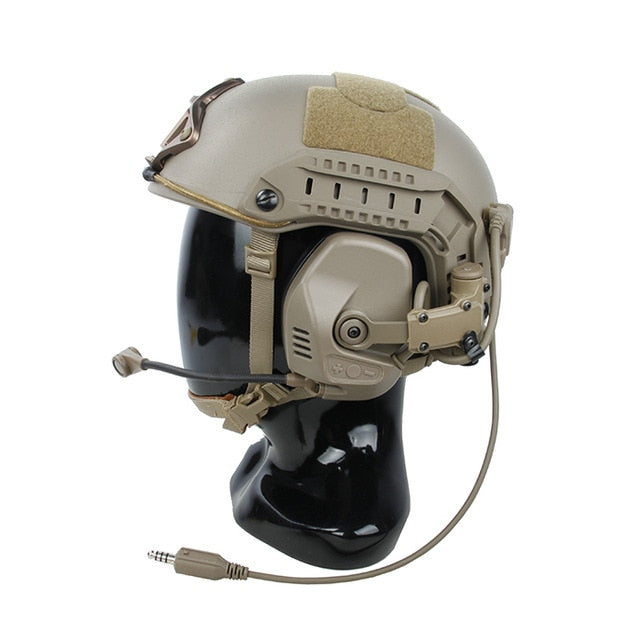 TMC RC Maritime Tactical Communication Hearing Protection Headset Noise Reduction Fit ARC Rail System(SKU051230)
