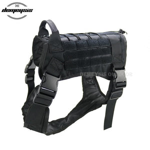 Tactical Police Traning Dog Vest Combat Military 1000D Nylon Molle Tactical Outdoor Military Hunting Dog Vest