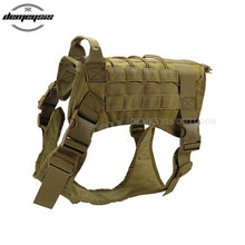 Load image into Gallery viewer, Tactical Police Traning Dog Vest Combat Military 1000D Nylon Molle Tactical Outdoor Military Hunting Dog Vest