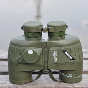 Lixada 10X50 396FT/1000YDS Sports Military Optics Binocular Telescope Spotting Scope with Compass for Hunting Camping Hiking Traveling Concert Waterproof Shockproof