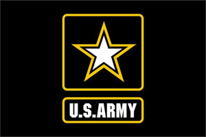 U.S. Army Star Flag 4` x 6` FT 100D Polyester Black Large American United States USA US Military Army Flags and Banners