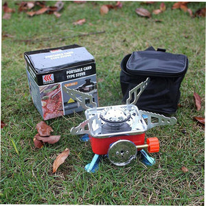 Portable Palm Quater Mini Fishing Gas Stove Strong Fire Furnace Outdoor Camping Stoves