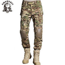 Load image into Gallery viewer, SINAIRSOFT Tactical G3 BDU Camouflage Combat Uniform Airsoft Shirt Pants With Knee Pads Military Multicam Hunting Camo Clothes