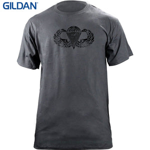 Pre-cotton Tee Shirt For Men Army Parachutist Badge Subdued Veteran T-shirt