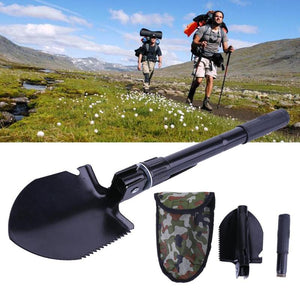 Military Portable Folding Beach Shovel Survival Spade Trowel Dibble Pick Emergency Garden Camping Outdoor Palaplegable Tool