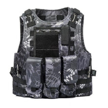 Load image into Gallery viewer, USMC Airsoft Military Tactical Vest Molle Combat Assault Plate Carrier Tactical Vest 7 Colors CS Outdoor Clothing Hunting Vest