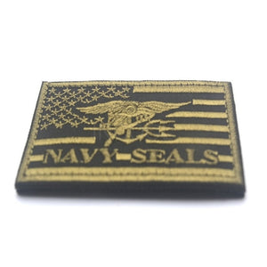 Embroidered Patch US Navy Seals USA Flag Morale Patch Tactical Emblem Applique Badges Embroidery Patches For Jackets Backpack