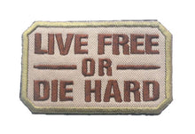 Load image into Gallery viewer, Die Hard 4 Hardcore MILITARY BADGE Attached Military Morale 3D Cloth Embroidered Badges 8*5cm