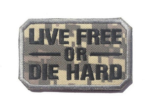 Die Hard 4 Hardcore MILITARY BADGE Attached Military Morale 3D Cloth Embroidered Badges 8*5cm