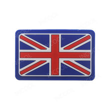 Load image into Gallery viewer, 3D PVC England Flag Patch UK United Kingdom Military Morale Patch Tactical Badges Combat Rubber Patches For Clothing Backpack