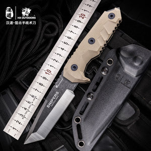 HX OUTDOORS 7Cr17MoTactical Knives Fixed Blade Knife Survival Rescue Tools Hunting Knives Corrosion Resistance Hunting Outdoor T