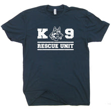 Load image into Gallery viewer, 2019 Fashion Summer Style K9 Rescue Dog T Shirt Military Shirts Unit Police Handler Fireman German Shepherd Tee Mens Tee shirt