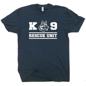 2019 Fashion Summer Style K9 Rescue Dog T Shirt Military Shirts Unit Police Handler Fireman German Shepherd Tee Mens Tee shirt