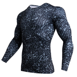 NEW Camouflage Jerseys Military Long Sleeve Men's T-shirts Compression Clothing Fitness Tops Autumn Tee shirt Cosplay Wear Tees