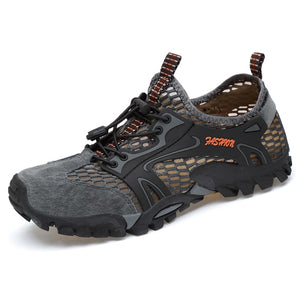 High Quality Big Size 45 Breathable Outdoor Men Hiking Shoes Sport Climbing Mountain Sneakers Breathable Air Mesh Water Shoes