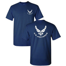 Load image into Gallery viewer, 2019 New Fashion Casual Men T-shirt NEW. U.S. AIR FORCE USAF small FRONT large BACK logo Navy Tee size S - 3xL