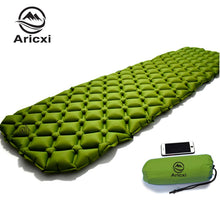 Load image into Gallery viewer, ONLY 450g Outdoor Inflatable Cushion Sleeping Bag Mat Fast Filling Air Moistureproof Camping Mat With Pillow Sleeping Pad