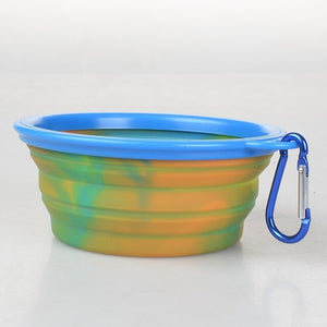 1PC Camouflage Folding Silicone Dog Bowl Appetite Outfit Portable Travel Bowl For Dog Feeder Utensils Dog Bowls Pet Accessories