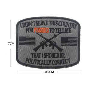 I didn't serve this country 3D Embroidery Patch US Flag Tactical Military Morale Patches Emblem Appliques Gun Embroidered Badges