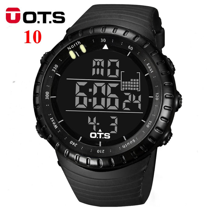 OTS Men's Watches Sport Digital Watch Men LED 50M Waterproof Diving Electronic Watch Military Men Wristwatch Relogio Masculino