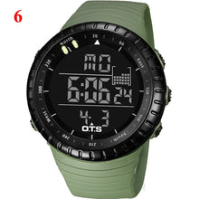 Load image into Gallery viewer, OTS Men's Watches Sport Digital Watch Men LED 50M Waterproof Diving Electronic Watch Military Men Wristwatch Relogio Masculino