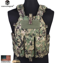 Load image into Gallery viewer, Emersongear Molle Tactical Vest Body armor Hunting plate Carrier Airsoft 094K M4 Pouch Emerson Combat Gear EM7356 Multicam