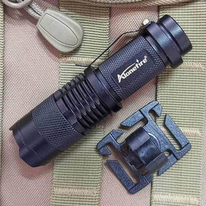 AloneFire led flashlight swivel U ring clip webbing clamp tactical backpack attach strap hang camp outdoor hike mountain climb