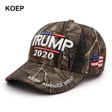 Load image into Gallery viewer, Donald Trump 2020 Cap Camouflage USA Flag Baseball Caps Keep America Great Again Snapback President Hat 3D Embroidery Wholesale