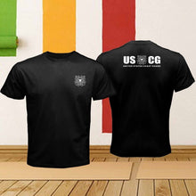 Load image into Gallery viewer, 2018 Short Sleeve Cotton Man Clothing Tops Homme The United States Coast Guard Uscg Armed Forces Logo Retro Offensive T Shirts