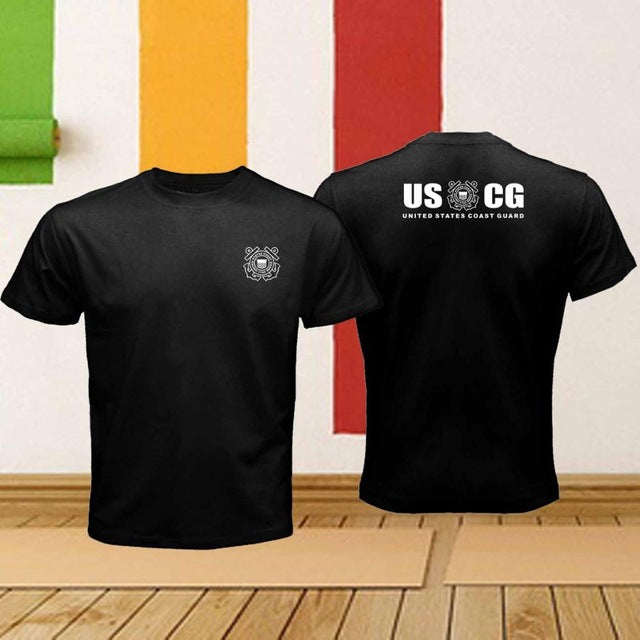 2018 Short Sleeve Cotton Man Clothing Tops Homme The United States Coast Guard Uscg Armed Forces Logo Retro Offensive T Shirts