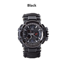 Load image into Gallery viewer, Outdoor Survival Watch Multifunctional Waterproof Military Tactical Paracord Watch Bracelet Camping Hiking Emergency Gear EDC