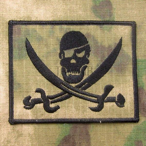 A-TACS FG DEVGRU NSWDG SealTeam6 The pirate flag Black Jack Military Tactical Morale Embroidery patch B3078