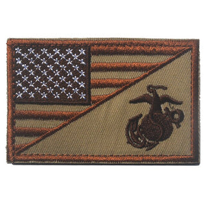 American Flag + Seal 3D ARMY Badges Hook & Loop Badge Emblem Military Morale Badges Jacket Embroidery Badge For Clothing