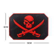 Load image into Gallery viewer, Pirate Skull Patches 3D PVC Military Tactical Combat Morale Patch Rubber Flag Biker Fastener Patches For Clothing Backpack Bags