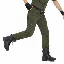 Load image into Gallery viewer, Tactical Pants Army Male Camo Jogger Plus Size Cotton Trousers Many Pocket Zip Military Style Camouflage Black Men's Cargo Pants