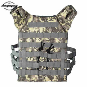 Molle Military Shooting Vest Protective Plate Carrier Tactical Vest for Outdoor Hunting Airsoft Paintball Waistcoat Vests