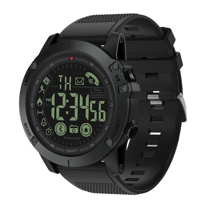 SOONHUA Bluetooth V4.0 Smart Wristband Outdoor Sports Waterproof Long Standby Wristbands Tactical Military Remote Camera Watch