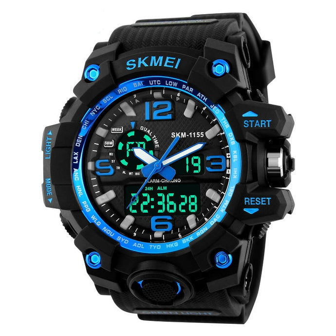 SKMEI Tactical Sports Watch Men Waterproof Military Digital Wristwatch LED Digital Clock Hiking Climbing  Hunting Accessories