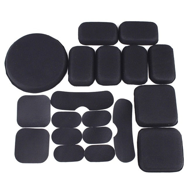 19Pcs/set Combat Paintball Airsoft Tactical Military Helmet Pads Hunting Helmet Protective Pad EVA