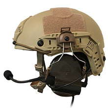 Load image into Gallery viewer, Tactical Helmet ARC Rail Adapter Suspension Headphones Bracket Hunting Earmuffs Left & Right Side Attachments for Peltor Comtac