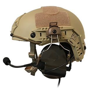Tactical Helmet ARC Rail Adapter Suspension Headphones Bracket Hunting Earmuffs Left & Right Side Attachments for Peltor Comtac