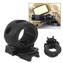 Load image into Gallery viewer, 30mm Helmet Special Lighting Flashlight Support Tactical Helmet Clamp Adaptor Outdoor Sports Cycling Headlight Holder