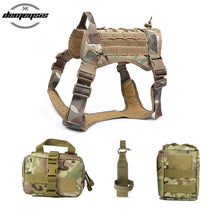 Load image into Gallery viewer, Tactical Service Dog Vest Camouflage Hunting Molle Dogs Vest with Pouches Water Bottle Carrier Bag