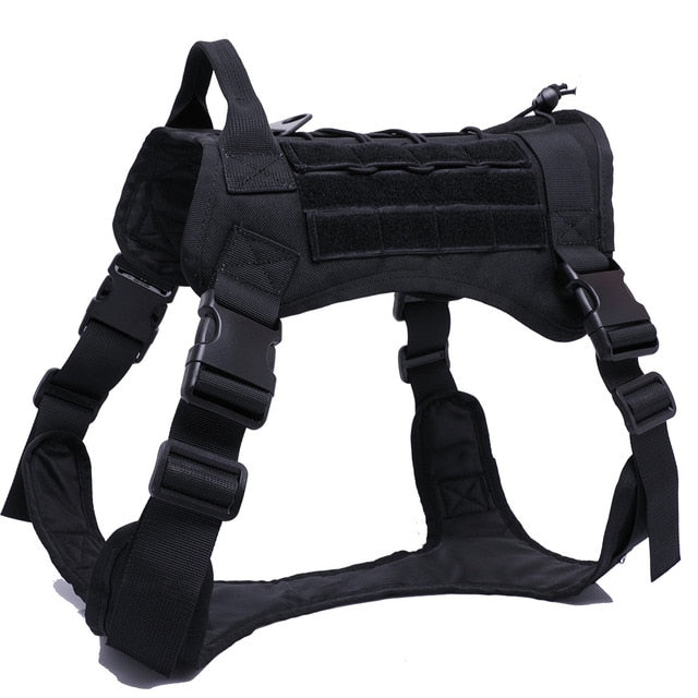 Tactical Service Dog Vest Camouflage Hunting Molle Dogs Vest with Pouches Water Bottle Carrier Bag