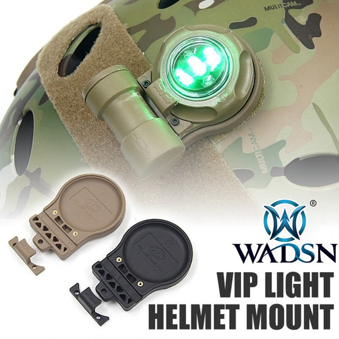 WADSN Airsoft light mount Tactical SOS VIP Safety Signal Strobe Light Helmet Mount Military WEX335 Hunting Helmet Accessories